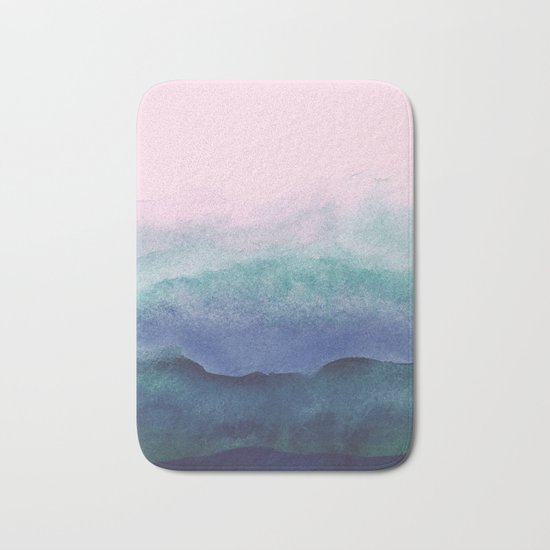 Pastel watercolor gradient (everyday 2/365) Bath Mat