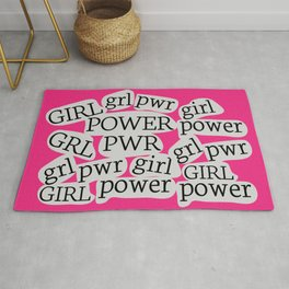 GIRL POWER - GRL PWR 12 // Hot Pink Rug