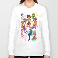 digimon Long Sleeve T-shirts featuring digi destined by SIDE PROJECT