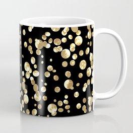 Golden confetti. Brilliant . Coffee Mug
