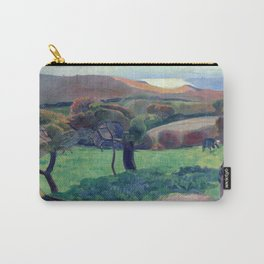 """Paul Gauguin """"Landscape from Bretagne"""" Carry-All Pouch"""