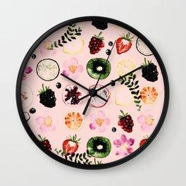 Fruit festival pattern Wall Clock