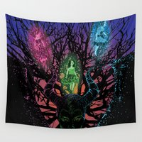 maleficent Wall Tapestries featuring Maleficent by Isai Pitre