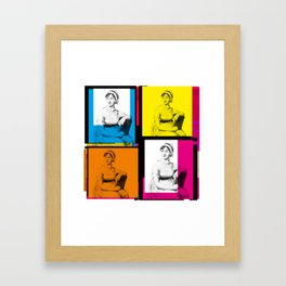 JANE AUSTEN (POP ART STYLE 4-UP COLLAGE) Framed Art Print