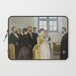 Michael Peter Ancher - A Baptism Laptop Sleeve