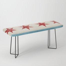Chicago Flag Bench