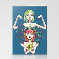 twins Stationery Cards featuring Twins by kellyhalloran