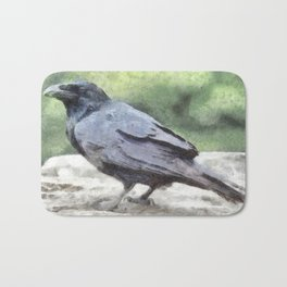 Crows Everywhere Are Equally Black Bath Mat