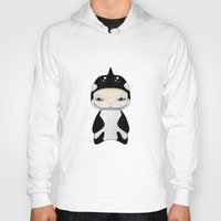 killer whale Hoodies featuring A Boy - Killer Whale by Christophe Chiozzi