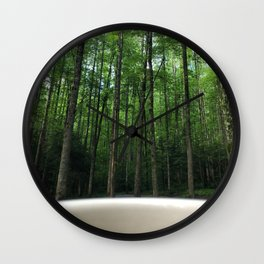 Breakfast View, Smoky Mountain Tennessee Wall Clock