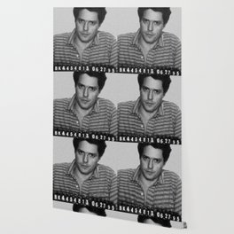 Painting of Hugh Grant Mug Shot 1995 Black And White Mugshot Wallpaper