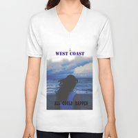 west coast V-neck T-shirts featuring In The West Coast by Dr.RPF
