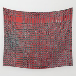 Left - Red and turquoise Wall Tapestry