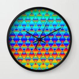neon tiles Wall Clock