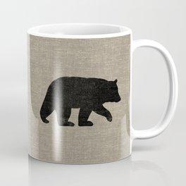 Black Bear Silhouette Coffee Mug