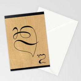 Balinese board game tile Stationery Cards