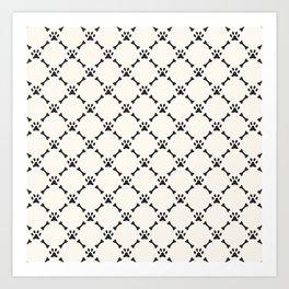 Bone & Paw Pattern Art Print