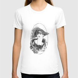 The Peacock Feather Hat T-shirt