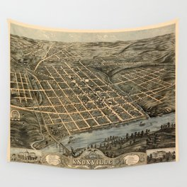 Map Of Knoxville 1871 Wall Tapestry