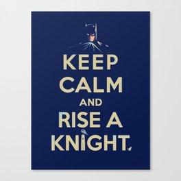 Keep Calm: Knight Canvas Print