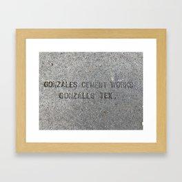 Gonzales Cement Works Framed Art Print
