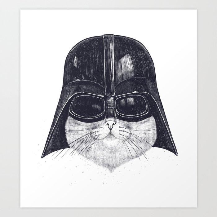 Darth Cat Art Print