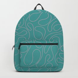 Abstract Geometrical Rosewater Pink Mint Blue Pattern Backpack