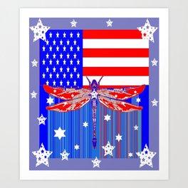 Red-White & Blue 4th of July Celebration Art Art Print