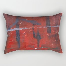 The Red of Blood Rectangular Pillow