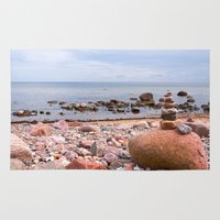 geology Area & Throw Rugs featuring At the beach by UtArt