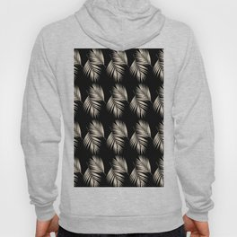 Palm Leaves Pattern #13 #Gold Touch #Black #decor #art #society6 Hoody