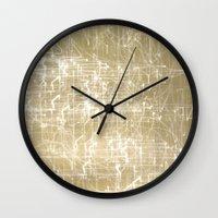 fairies Wall Clocks featuring Exploding Fairies. by Martine Fulford