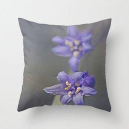 Woodland Bluebell Throw Pillow
