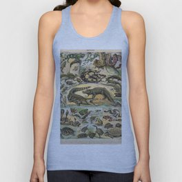 Reptiles Poster Vintage Unisex Tank Top