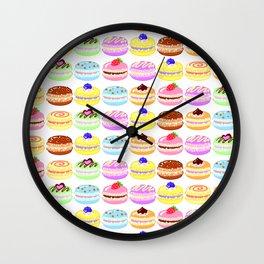 Macaroon Pattern Wall Clock