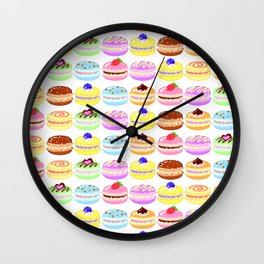 Macaroon Pattern Wall Clock