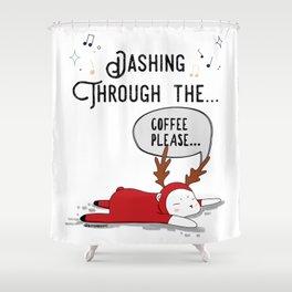 Dashing Through the... Coffee Please... Shower Curtain