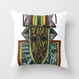 African Rasta Throw Pillow