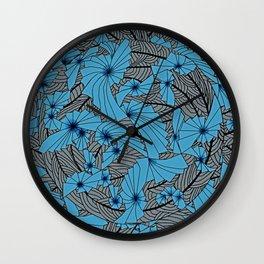 Mandala Blue Grey Abstract Wall Clock