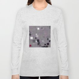 Purple Plum  Square Pattern Long Sleeve T-shirt