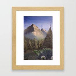Happy Little Trees Framed Art Print