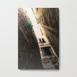 Old Street, Piran, Mediterranean Sea, Color Film Photo Metal Print