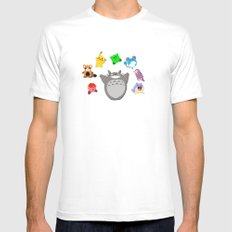 Video game Anime Character Rainbow Mens Fitted Tee MEDIUM White