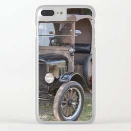 Old Form of Livestock Transport Clear iPhone Case