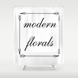 Modern Florals and Arrows Shower Curtain
