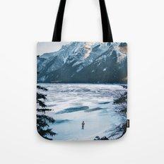 Winter at Lake Minnewanka Tote Bag