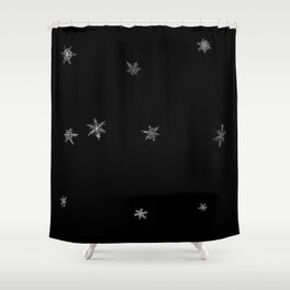 Snowflakes of the night Shower Curtain