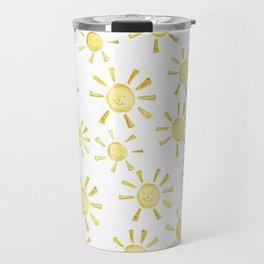 Happy Sunshine Print Travel Mug