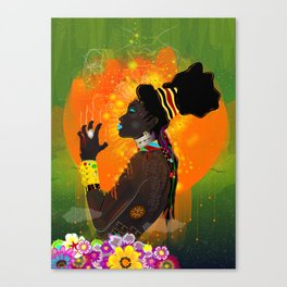 One with the Sun Canvas Print