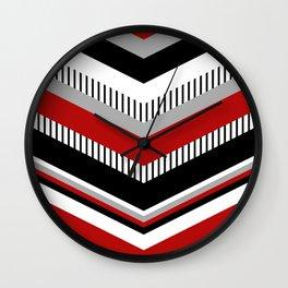 Four colors chevron design Wall Clock